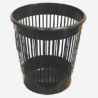 Корзина для бумаги пластиковая офисная, черная 10 л.