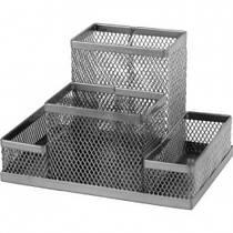Подставка металлическая 4 отдел. серебряная