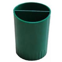 Стакан для ручек на 2 отделения E81982, зеленый