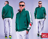 Мужской спортивный костюм 35 зеленый+серый