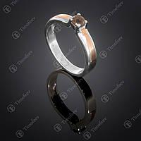Серебряное кольцо с раухтопазом. Артикул П-376