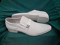 Летние стильные мужские кожаные туфли TeZORO