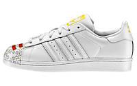 Женские кроссовки Adidas Superstar Pharrell Supershell White (Адидас Суперстар) белые