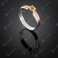 Серебряное кольцо с цитрином. Артикул П-376