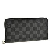 Кожаный кошелек Louis Vuitton 10079 черный