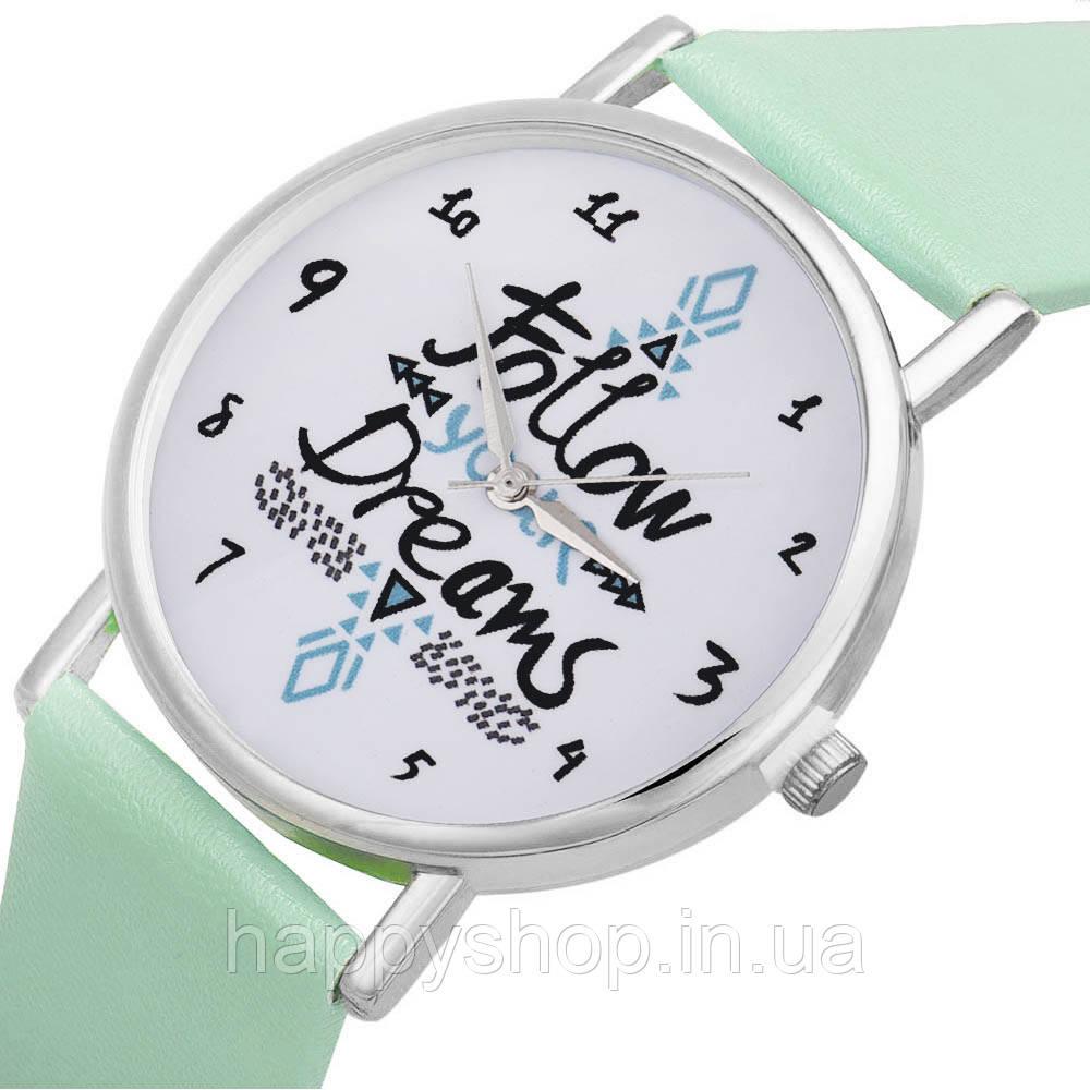 Женские часы Follow your dreams (мятные)
