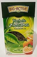 Зелений чай з шматочками апельсина великий-Активний зелена-Хербата 100 г