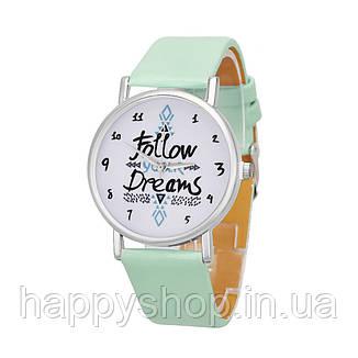 Женские часы Follow your dreams (мятные), фото 2