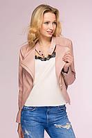 Куртка-жакет из искусственной кожи Top розовый