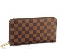 Кожаный кошелек Louis Vuitton 10080 коричневый