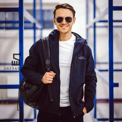 Демисезонная мужская куртка F&F Denver темно-синяя L S