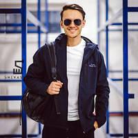 Демисезонная мужская куртка F&F Denver темно-синяя L L