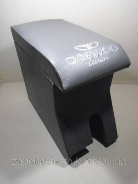 Подлокотник Ланос серый с вышивкой Daewoo