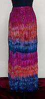 Юбка миненная разноцветная, сине-малиновая