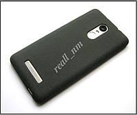Мягкий матовый чехол для Xiaomi Redmi Note 3 Pro SE 3i, TPU бампер накладка черный не скользкий