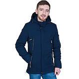 Чоловіча демісезонна куртка, синього кольору, фото 2