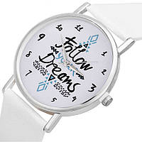 Женские часы Follow your dreams (белые)