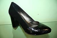 Туфли женские черные кожа ТМ Safina
