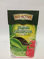 Чай зелений листовий Big-Active Maliny