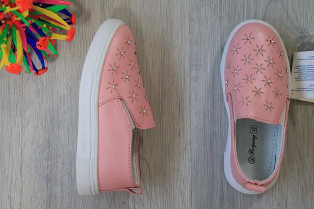 розовые детские слипоны на липучке bonkids.com.ua