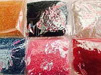 Бисер мелкий №10, комплект 6 цветов (60грм в каждом пакете)