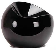 Пуф пластиковый Рензо черный дизайн Фина Стоуна