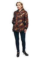 Женская куртка большого размера черная Красное золото 1717002/1