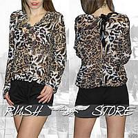 Леопардовый женский комбинезон