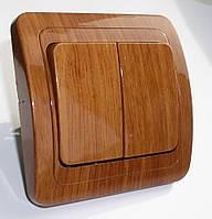 Выключатель 2-й типа Makel дерево