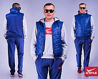 Мужской спортивный костюм 13 тройка электрик
