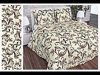Двоспальний постільний комплект - Великий вензель горошок