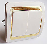 Выключатель 1-й типа Makel золото
