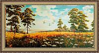 Картина Поле 500х1000мм №355 в багетной рамке