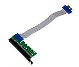 Райзер Riser PCI-E 1x to 16x с разъемами питания, фото 3