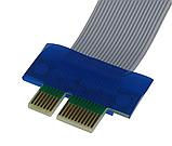 Райзер Riser PCI-E 1x to 16x с разъемами питания, фото 4