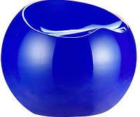 Пуф пластиковый Рензо синий дизайн Фина Стоуна