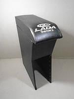 Подлокотник ВАЗ 2115 черный с вышивкой