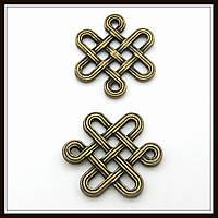 """Коннектор """"Кельтский узел"""" бронза (1,4х1,6 см) 15 шт в уп."""