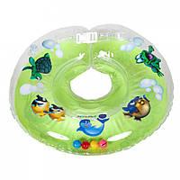 Детский круг-воротничок для купания оптом и в розницу EuroStandard Delfin 0-36 м (Польша) зелёный