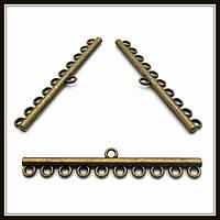 """Коннектор """"прямой"""" бронза (0,8х4,6 см) 1 шт в уп."""