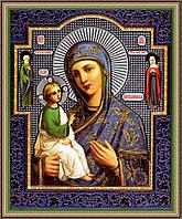 Образ Богородицы Иерусалимская. 200х240мм. №229 в багетной рамке