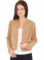 Женская бежевая теплая флисовая куртка кофта
