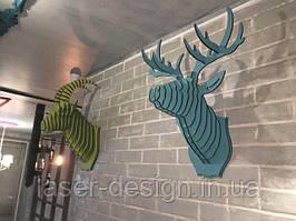 Наши изделия Голова козла и Голова оленя в пиццерии Челентано, г. Измаил