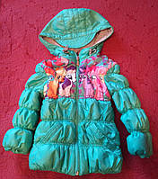 Демисезонная б/у курточка для девочки в отличном состоянии, р. 86