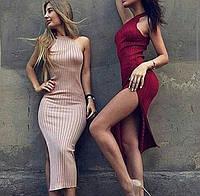 Платье без рукавов трикотажное