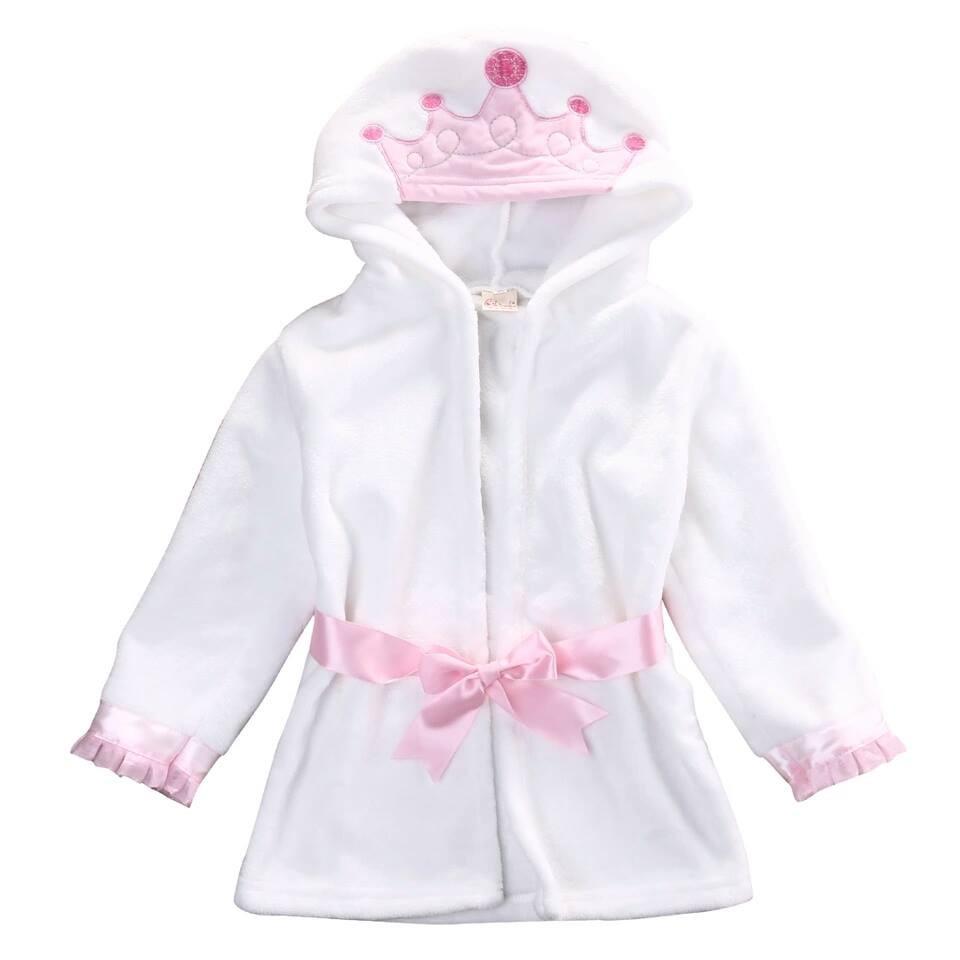 Дитячий банный халат Корона Принцесса,Зайка