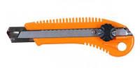 Нож пластиковый корпус лезвие 18мм винтовой замок