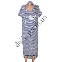 Женское трикотажное платье с капюшоном (БОЛЬШИЕ РАЗМЕРЫ) R75-1 оптом в Одессе.