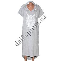 Женское трикотажное платье с капюшоном (БОЛЬШИЕ РАЗМЕРЫ) R75-4 оптом в Одессе.