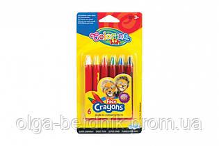 """Мелки для лица """"Colorinо"""", 6 цветов, 32629PTR"""